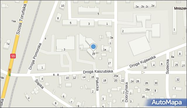 Grudziądz, Droga Kaszubska, 15, mapa Grudziądza