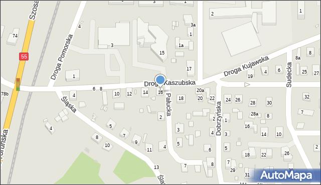 Grudziądz, Droga Kaszubska, 16, mapa Grudziądza