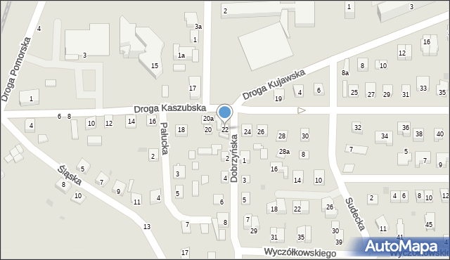 Grudziądz, Droga Kaszubska, 22, mapa Grudziądza