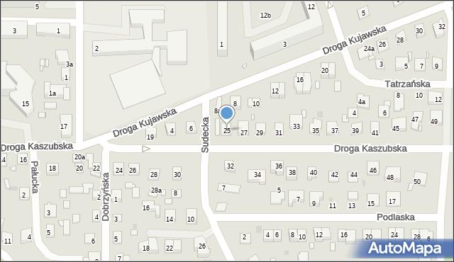 Grudziądz, Droga Kaszubska, 25, mapa Grudziądza