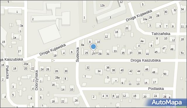 Grudziądz, Droga Kaszubska, 27, mapa Grudziądza