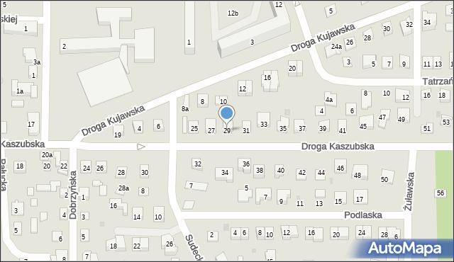 Grudziądz, Droga Kaszubska, 29, mapa Grudziądza