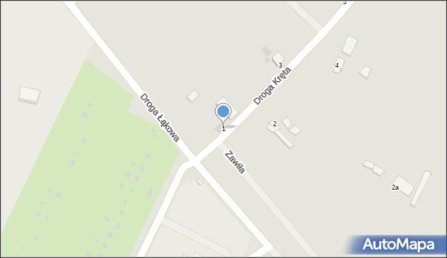 Grudziądz, Droga Kręta, 1, mapa Grudziądza