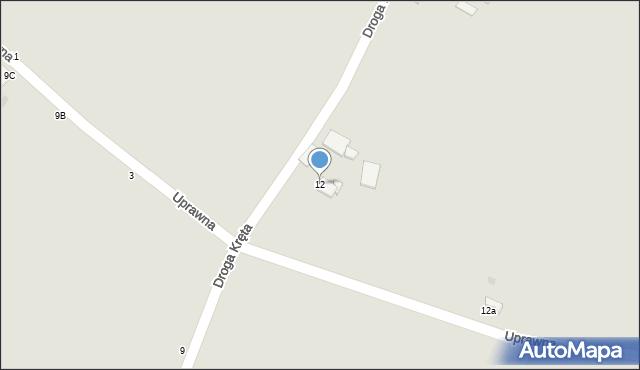 Grudziądz, Droga Kręta, 12, mapa Grudziądza