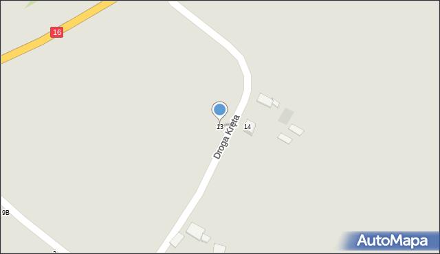 Grudziądz, Droga Kręta, 13, mapa Grudziądza