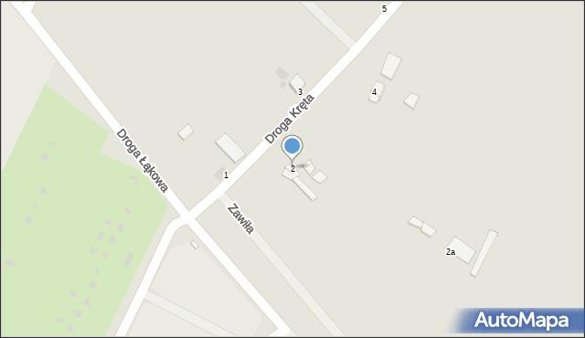Grudziądz, Droga Kręta, 2, mapa Grudziądza