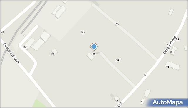 Grudziądz, Droga Kręta, 3a, mapa Grudziądza