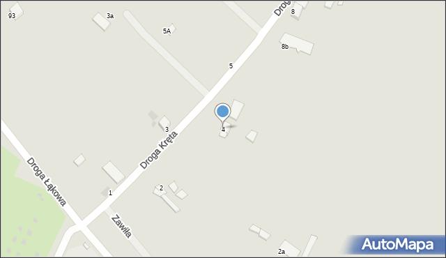 Grudziądz, Droga Kręta, 4, mapa Grudziądza