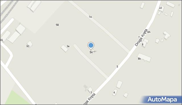Grudziądz, Droga Kręta, 5A, mapa Grudziądza