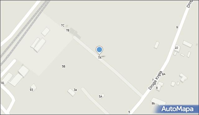 Grudziądz, Droga Kręta, 7A, mapa Grudziądza