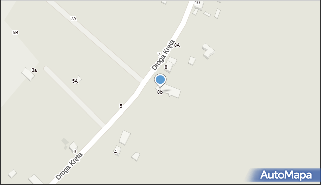 Grudziądz, Droga Kręta, 8b, mapa Grudziądza