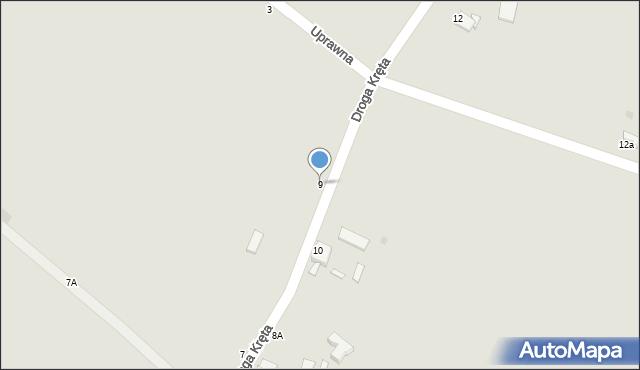 Grudziądz, Droga Kręta, 9, mapa Grudziądza