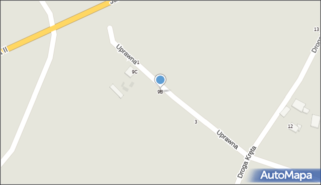 Grudziądz, Droga Kręta, 9B, mapa Grudziądza