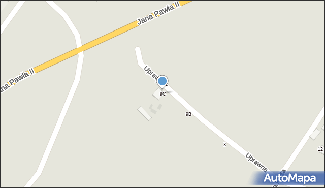 Grudziądz, Droga Kręta, 9C, mapa Grudziądza