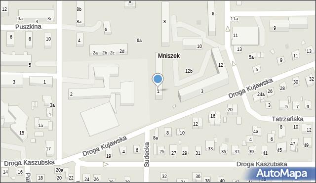 Grudziądz, Droga Kujawska, 1, mapa Grudziądza