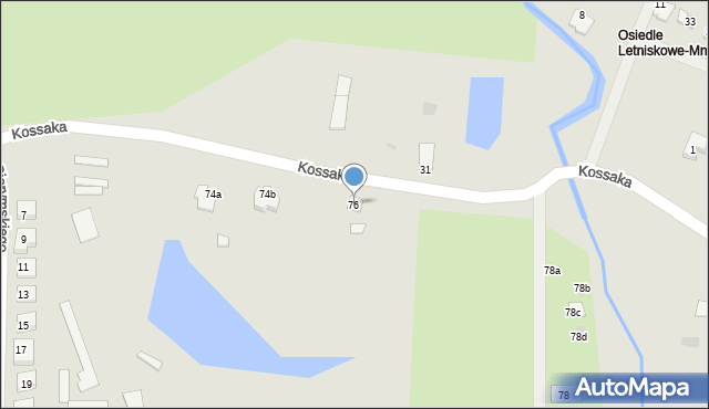 Grudziądz, Droga Kujawska, 76, mapa Grudziądza