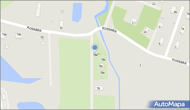 Grudziądz, Droga Kujawska, 78a, mapa Grudziądza