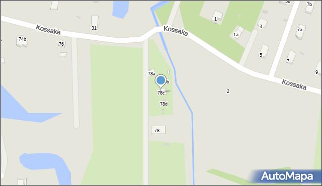 Grudziądz, Droga Kujawska, 78c, mapa Grudziądza