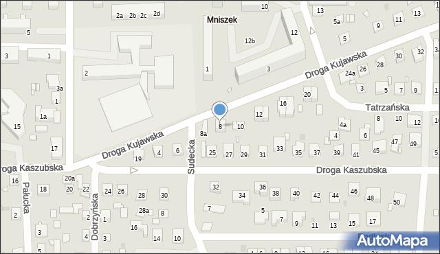 Grudziądz, Droga Kujawska, 8, mapa Grudziądza
