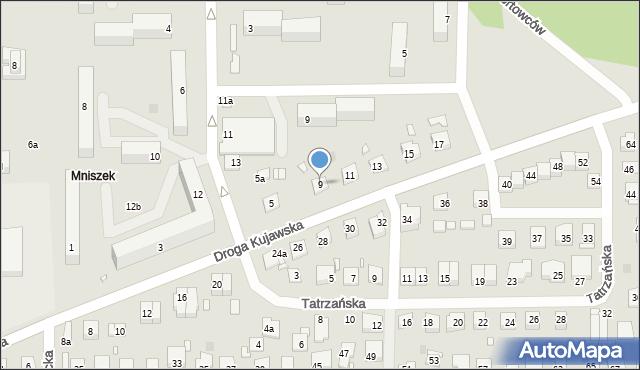 Grudziądz, Droga Kujawska, 9, mapa Grudziądza