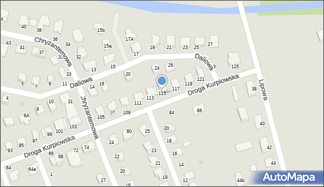 Grudziądz, Droga Kurpiowska, 115, mapa Grudziądza