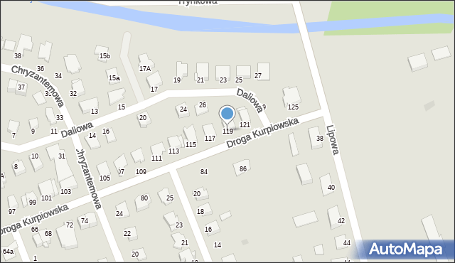 Grudziądz, Droga Kurpiowska, 119, mapa Grudziądza