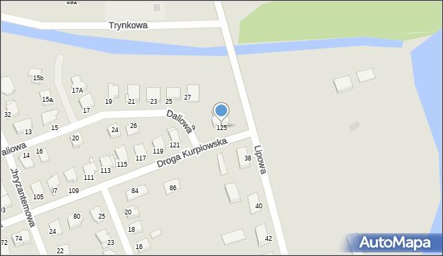 Grudziądz, Droga Kurpiowska, 125, mapa Grudziądza