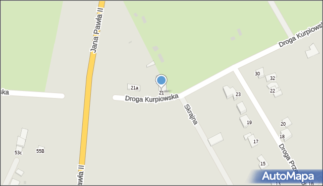 Grudziądz, Droga Kurpiowska, 21, mapa Grudziądza