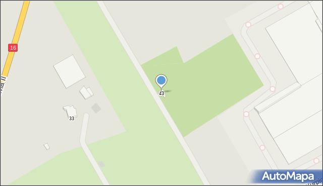 Grudziądz, Droga Kurpiowska, 43, mapa Grudziądza