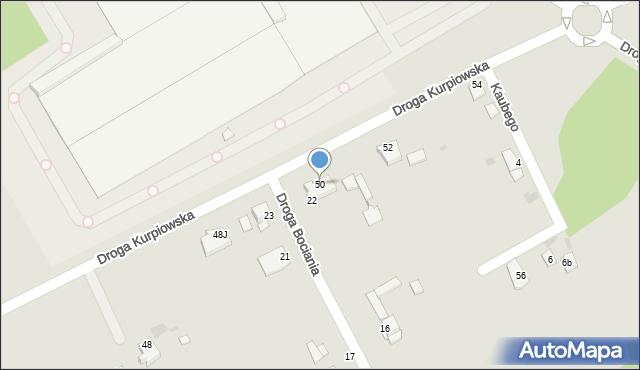 Grudziądz, Droga Kurpiowska, 50, mapa Grudziądza