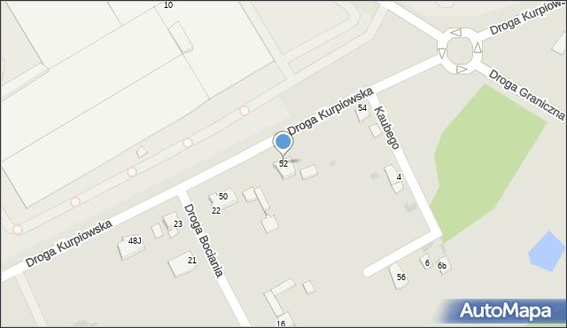 Grudziądz, Droga Kurpiowska, 52, mapa Grudziądza