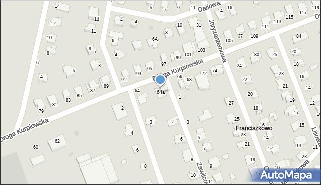 Grudziądz, Droga Kurpiowska, 64a, mapa Grudziądza