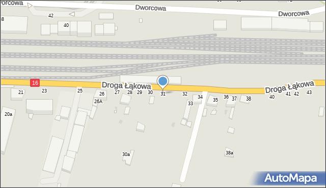 Grudziądz, Droga Łąkowa, 31, mapa Grudziądza