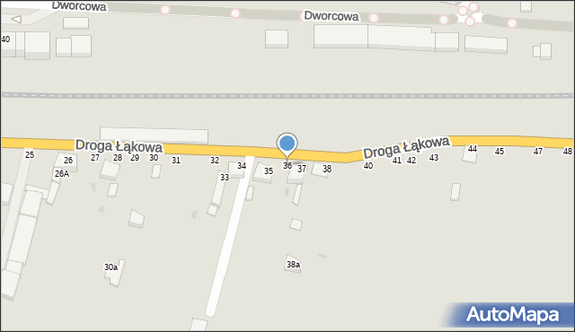 Grudziądz, Droga Łąkowa, 36, mapa Grudziądza