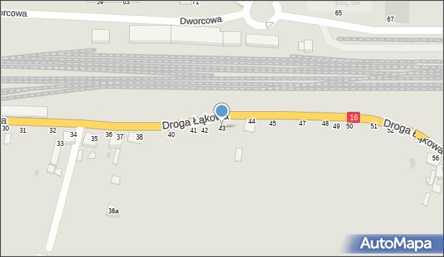 Grudziądz, Droga Łąkowa, 43, mapa Grudziądza