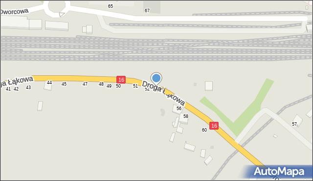 Grudziądz, Droga Łąkowa, 53, mapa Grudziądza