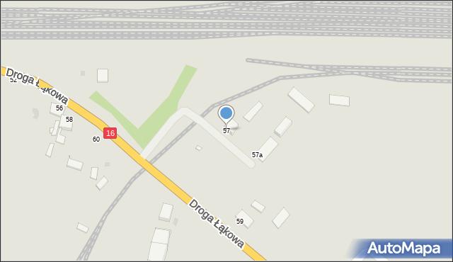 Grudziądz, Droga Łąkowa, 57, mapa Grudziądza