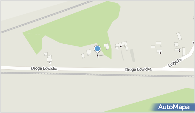 Grudziądz, Droga Łowicka, 3, mapa Grudziądza