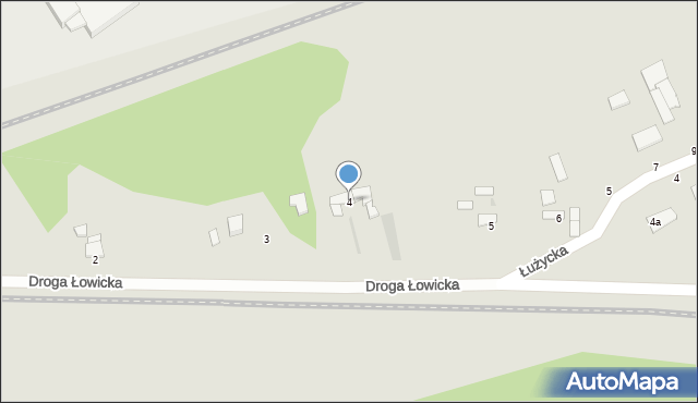 Grudziądz, Droga Łowicka, 4, mapa Grudziądza