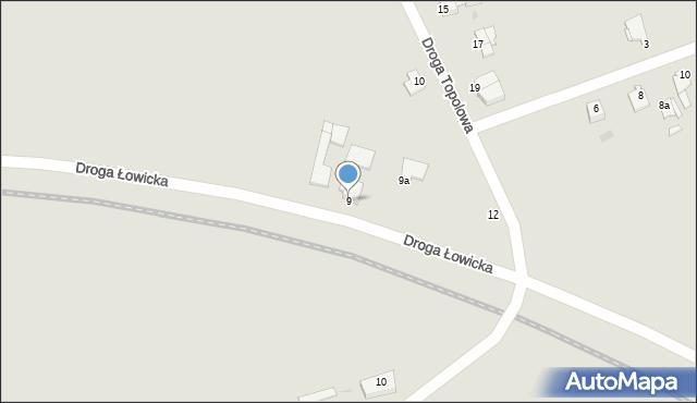 Grudziądz, Droga Łowicka, 9, mapa Grudziądza