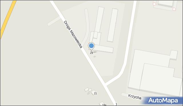 Grudziądz, Droga Mazowiecka, 23, mapa Grudziądza