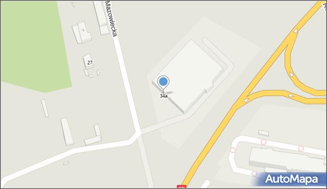 Grudziądz, Droga Mazowiecka, 34a, mapa Grudziądza