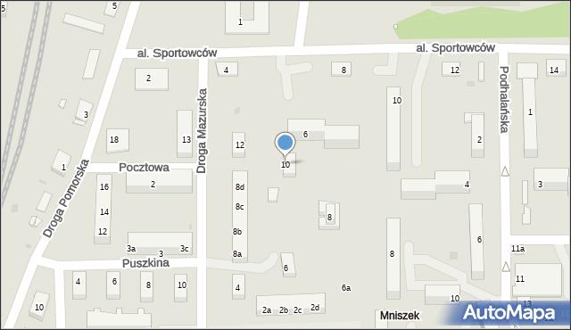 Grudziądz, Droga Mazurska, 10, mapa Grudziądza