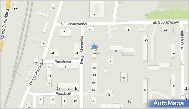 Grudziądz, Droga Mazurska, 12, mapa Grudziądza