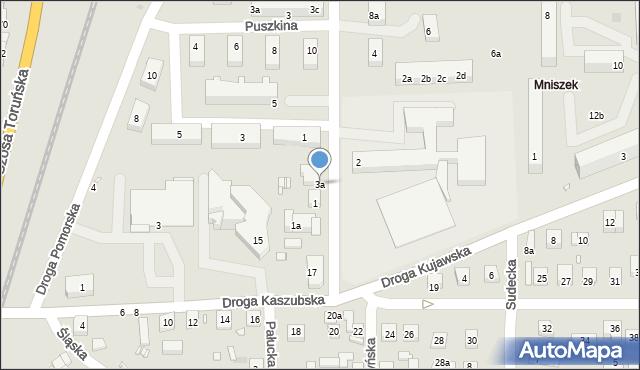 Grudziądz, Droga Mazurska, 3a, mapa Grudziądza