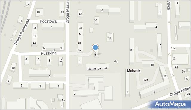 Grudziądz, Droga Mazurska, 6, mapa Grudziądza