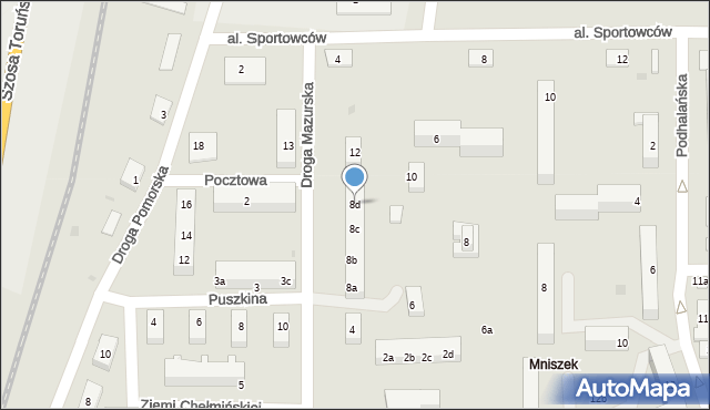 Grudziądz, Droga Mazurska, 8d, mapa Grudziądza