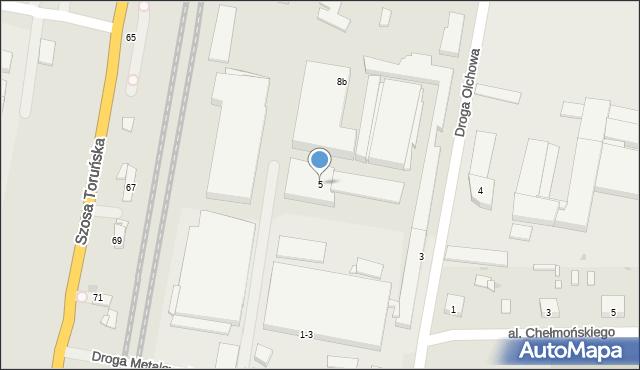 Grudziądz, Droga Metalowców, 5, mapa Grudziądza