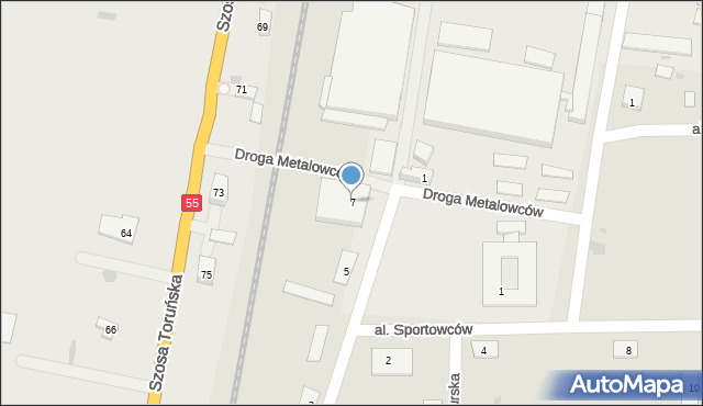 Grudziądz, Droga Pomorska, 7, mapa Grudziądza