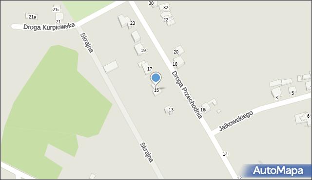 Grudziądz, Droga Przechodnia, 15, mapa Grudziądza